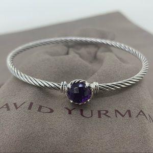 David Yurman 3mm Chatelaine Bracelet Amethyst
